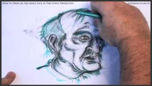 Draw An Old Man's Face In Two Point Perspective 35 by drawingcourse