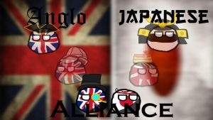 Anglo Japanese Countryballs Wallpaper by Disney08