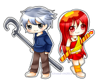 Comm: Jack Frost and Phyra Flame from Roslue-chie by ProjectANGEL101