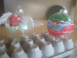 Christmas Ornament Glass Balls by originalceenote