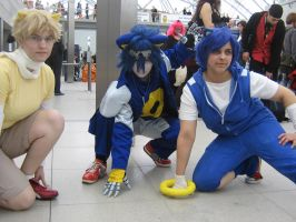 Sonic, Tails and Metal Sonic by Metal-CosxArt