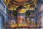 Hagia Sophia Interior / Sketchbook / Watercolor by MsRiin