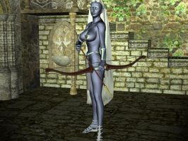 Drow Archress by QueenFlamewing