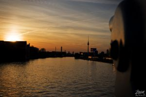 Sunset over West Berlin by TRexChomp