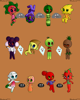 All 12 Fruit Sprites by Crysenley