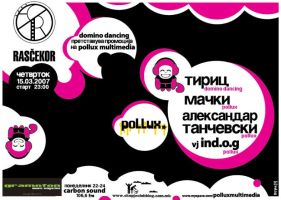 flayer for pollux party by indog