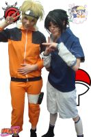 naruto et sasuke cosplay by yvelise