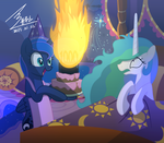 MLP1000th birthday of  Celestia by 0Bluse