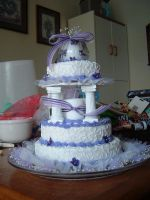 Wedding Cake by Mom by residentangie