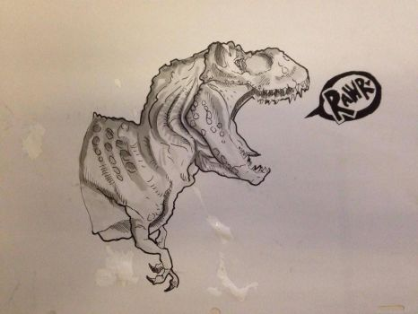 Day #11 Inktober - Rex by Ginger-Ketchup