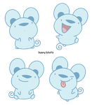 Chibi Blue Mice by Daieny