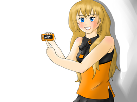 The new mobile phone by Dream-tyan