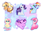 MLP Keychains by HungrySohma16