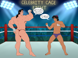 Celebrity Wrestling: Aladdin Owns Gaston by toongalore