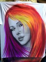 airbrush t-shirt lisa Jenkins by Airbrush-Paul