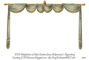 1820 Regency Curtain Room - EKD 1 curtain only by EveyD