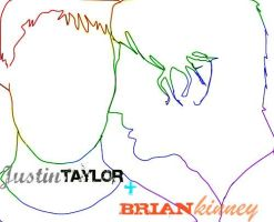 Justin and Brian Outline by kelseykaboom