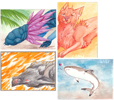 .: ACEO Batch :. by Eraili