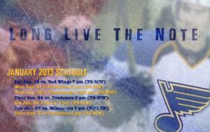 Jan. 2013 St. Louis Blues Schedule Wallpaper by RealBadRobot