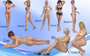 Doa pose pack 01 by DragonLord720