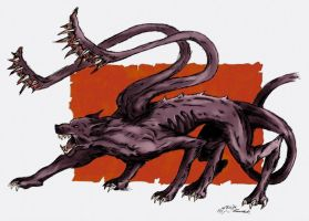 Displacer beast colored by AveLaska