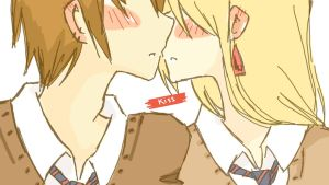 Tablet y Mitsuki OC - Kiss by HaruNoLove