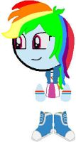 Rainbow Dash{MLP: EQG} by YellowNinja123