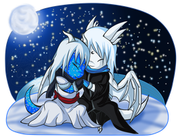 Santa :Lunaris and Alythia: by 00ShadowDragon00
