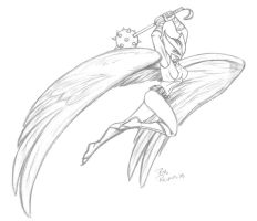 Hawkgirl by AnimalQwacker
