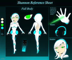 Shannon Reference Sheet by SapphireShine