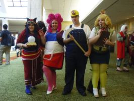 AWA '13: Katrina, Harriet, Resetti, and Isabelle by NaturesRose