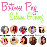 Pack Botones Png Selena Gomez by Dreamflawless