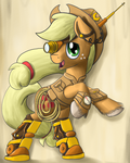 Steampunk Applejack by NiegelvonWolf