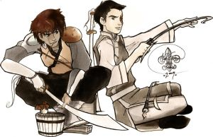 Jet + Zuko by far-eviler