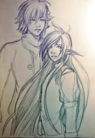 HOTP Practice Doodle: Zonda and Zyan by LilithGiroyami