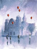 Childer with baloons by sanderus