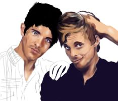 Bradley and Colin drawing, unfinished by usmelllikedogbuns