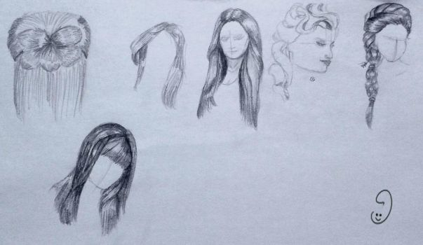 7  Sep hair doodles by mary3m