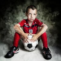 football boy by Angela-Oliver-Art