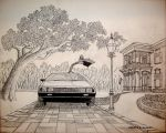 Sketch for DeLorean Painting 2 by DeloreanREB