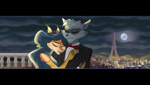 sly and carmelita love in paris by FCC93