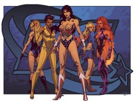 Women of DC by SpiderGuile by Ross-A-Campbell