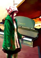 piano girl by junefeier