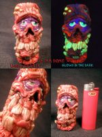 Phineas The Zombie 18mm Female Cylindrical Dome by by Undead-Art