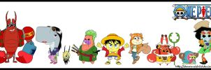 monkey d squarepants by abnormalchild