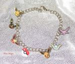 Custom Eevee Eeveelution Charm Bracelet Pokemon by TorresDesigns
