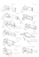 Scifi revolver designs by PenUser