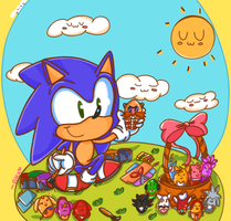 Sonic's egg collection by chibiirose