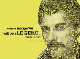 Typographic Mosaic (Freddie Mercury) by arish9