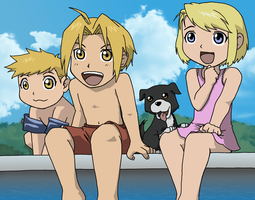 FMA Poolside by methuselah-alchemist